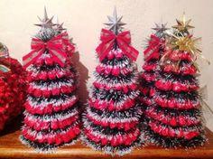 Árvore de Natal com balas de morango