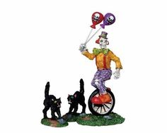 Lemax Spooky Town Halloween Ghoulish Clown, Set of 3 02765