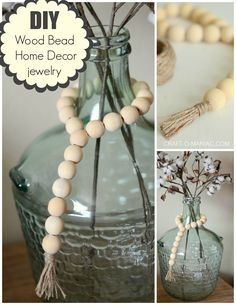 Have you seen the trend lately? its wood beads draped over coffee table baskets, in them, around candlesticks, resting on a shelf, mantel, you name it. They are all the rage these days. I have seen them all over Instagram as well. Guess what? I made some. YAY! These DIY Wood Bead Home Decor Jewelry …
