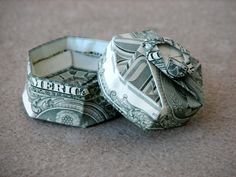 Six Sided Gift Box Money Origami