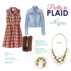 Add a feminine touch to your plaid with statement-making pearls from Initial Outfitters!