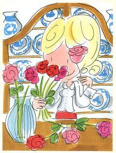 (Rozen in een vaas zetten) - Blond Amsterdam