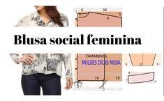 Camisa social feminina passo a passo, ler mais...