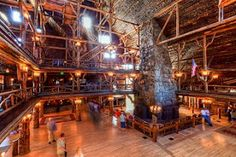 Mountain Style - Old Faithful Inn in Yellowstone National Park, WY.