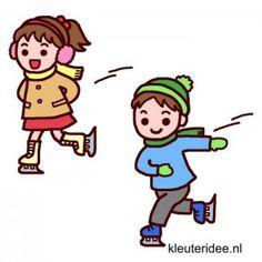 La clase de gimnasia para los niños, tema del invierno, kleuteridee.nl