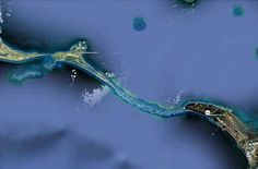The 18-mile bridge is said to have been passable by foot until the 1400s. Image courtesy NASA