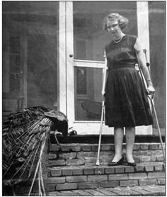 My patron saint, Flannery O'Connor. If I ever got a tattoo (highly unlikely), it would be a peacock feather, for her.