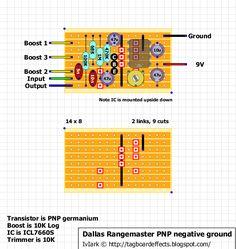 Guitar FX Layouts: Dallas Rangemaster PNP negative ground