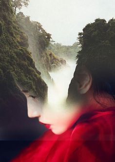 Beautifully Surreal Portrait Series Blended into Landscape Photos by Antonio Mora. Spanish artist Antonio Mora specializes in creating dream-like Portraits En Double Exposition, Exposition Multiple, Photomontage, Creative Photography, Portrait Photography, Photography Ideas, Double Exposure Photography, Multiple Exposure, Montage Photo