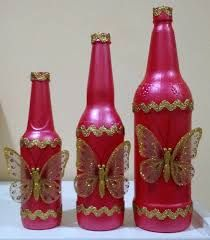 Resultado de imagem para decora garrafas