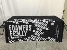Black and white or full colour our tablecloths are like no other! Brewing Co, Tablecloths, Custom Fabric, Vancouver, Printing On Fabric, Canada, Colour, Black And White, Printed