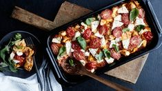 Veggie Recipes, Pasta Recipes, Vegetarian Recipes, Healthy Recipes, Healthy Food, Feta Pasta, My Cookbook, Vegetable Pizza, Love Food