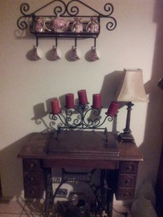 Makes me think of being a kid and my Aunt showing me how to sew on her antique sewing machine!