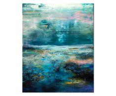 Canvas print Abstract Aqua