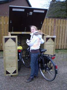 Fietsenberging te koop als fietsoverkapping in tuin - LoRas.nl