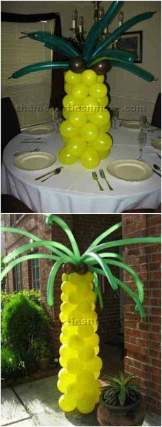 Turoría: cómo hacer una palmera con globos para una fiesta   -   Party. Tutorial: How to make Balloon Palm Trees
