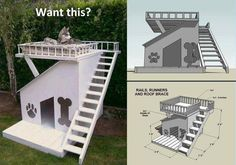Cool dog house idea (may need alternate plans for your awesome older canine...!!!...)