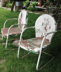 This is the kind of outdoor chairs we had when I was growing up.
