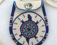 Check out our turtle medicine selection for the very best in unique or custom, handmade pieces from our shops. Native American Ancestry, Native American Beadwork, Native American Art, Medicine Bag, Medicine Wheel, Bubble Wrap Envelopes, Craft Work, How To Make Bows, Rosettes