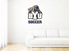 """Byu Cougars - United States - High Quality Wall Graphic Decal - 25"""""""