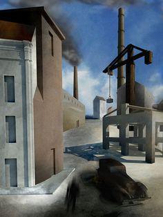 Mario Sironi Paesaggio urbano 1921 - 3D salvatore millitari