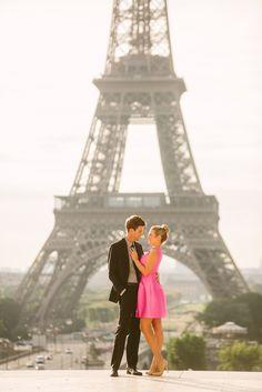 Paris portraits from L'amour de Paris. paris portraits, eiffel tower portraits, eiffel tower couple photos, trocadero portraits, couple photos in paris, paris pictures, kate spade, kate spade dress,
