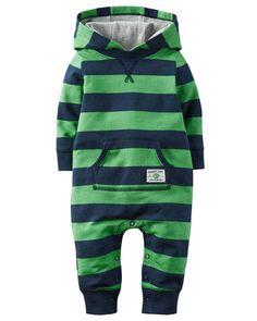 2fe6e27b29be Carters Little Boys 1Piece Snug Fit Cotton Footless PJs Whale Print ...