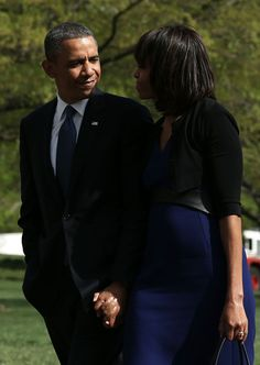 U.S. President Barack Obama (L) and first lady Michelle Obama