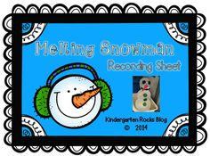 Snowman Melting Recording Sheet from KindergartenRox on TeachersNotebook.com -  (7 pages)  - This science activity will truly melt your students' hearts.