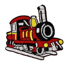 2.8' x 2.9' Red Train DIY Applique Embroidered Sew Iron on Patch -- Check out the image by visiting the link.