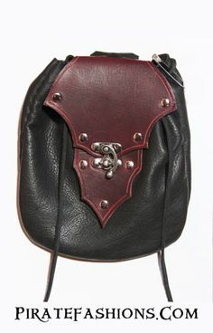 Here be a wonderfully crafted leather pirate belt pouch. • Comes in the clasp fixture only, no more buttons • 8.5 inches long, 6.5 inches height, 6 wide • Heavy duty cow leather fer top n' back • Flex