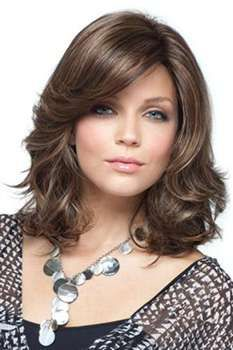 More than 40 of the best mid-length hair styling styles – Page 14 – Kornelia Nowak Medium Layered Hair, Medium Hair Cuts, Medium Hair Styles, Curly Hair Styles, Weight Charts For Women, Middle Part Hairstyles, Pretty Hairstyles, Mid Length Hair, Long Wigs
