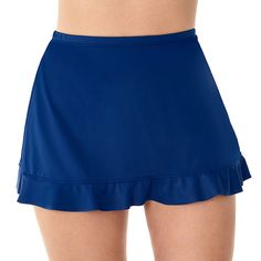 St. John's Bay Swim Skirt Swim Skirt, Swim Dress, Short Skirts, Short Dresses, Swimsuits, Swimwear, Spandex Fabric, Cheer Skirts, Gym Shorts Womens