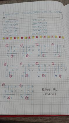 Classe seconda-Matematica- Gennaio- Addizioni in colonna con il cambio - Maestra Anita Worksheets, Homeschool, Coding, Bullet Journal, Learning, Addition And Subtraction, Math Exercises, Activities, School