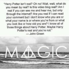 John Green and Harry Potter SO MUCH YES