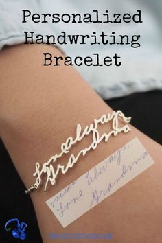 Sweet memories of Grandma's handwriting? Keep them forever with this bracelet! The most unique jewelry you can find! Perfect gift for you and your loved one to cherish always.