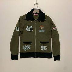 Japanese Brand Blue Cross Spell Out Varsity Jacket Kids | Grailed Light Jacket, Rain Jacket, Blue Cross, Motorcycle Jacket, Adidas Jacket, Windbreaker, Japanese, Kids, Jackets