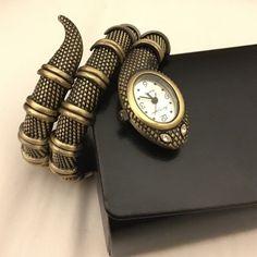 Phyton Snake diamond eyes watch Stainless steel snake watch fits any wrist adjustable Kenneth Jay Lane Jewelry Bracelets