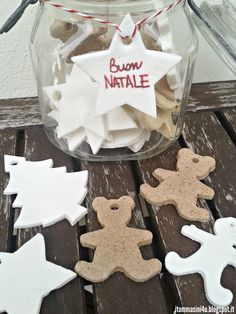 Pasta modellabile al bicarbonato Gingerbread Cookies, Crafts For Kids, Advent, Clip Art, Clay, Homemade, Desserts, Christmas, Hobby