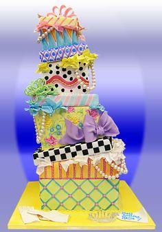 Mackenzie - Childs inspired cake