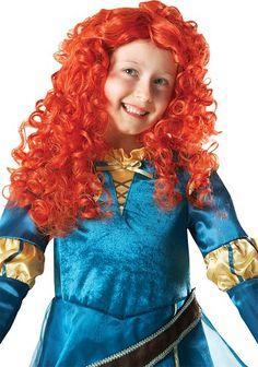 Prinsessa Urhea. Lisensoitu Walt Disney Prinsessa Merida peruukki.