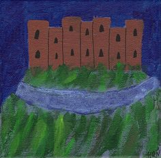 Castle On The Hill, Small Paintings, Metallic Paint, Astronomy, The Originals, Abstract, Creative, Handmade, Etsy