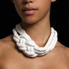 Hair Accessories Braided Necklaces Knotted Necklace par Necklush