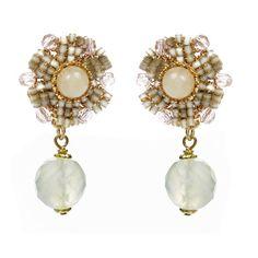 $250.00 | Flower Drop Earrings | Miriam Haskell