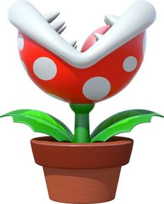Potted Piranha Plant Item This Sits In Front Of The Users Kart And Attacks Other Racers It Also Gives A Small Speed Boost Bursts