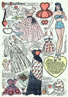 Katy Fashions   **  Katy Keen comics, I made tons of paper doll clothes for her!!
