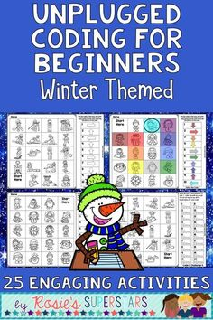 Thesescreen freeWinterthemed coding activities are great for beginners to learn thebasics of directional coding. There are25 different ready to printactivities that have students follow directional codes and create their own program using arrows. Use these activities as aSTEMcenter or for independent work as an introduction to coding. These activities are a great way for students to participate in the Hour of Code™️ without using techn
