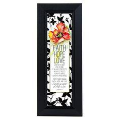 Faith Hope Love Framed Graphic Art