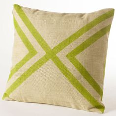 Crossing V painted pillow