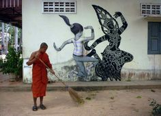 Street art urban art by Seth Globepainter